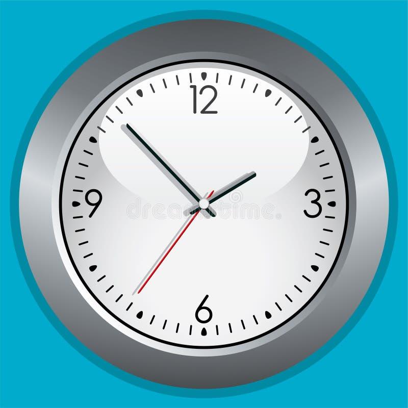 Clock. Illustration of a gray clock royalty free illustration