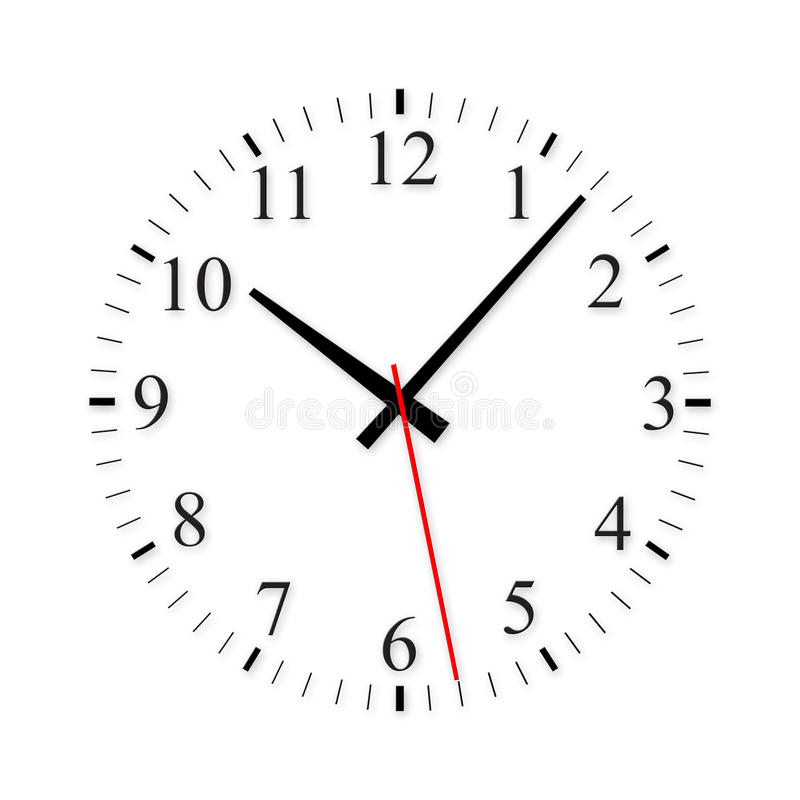 Clock. Isolate clock on white background