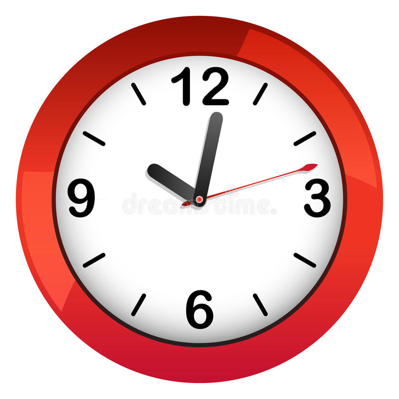 Clock illustration isolated royalty free illustration