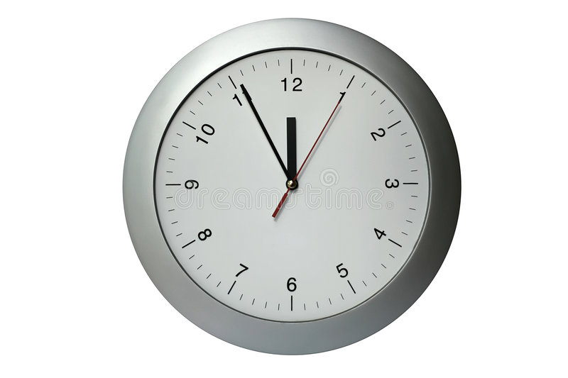 Clock. Silver clock, time, year, passing simple concept royalty free stock photos