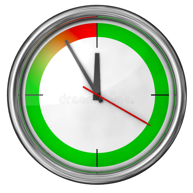 Download Clock stock illustration. Illustration of over, dial - 17337865