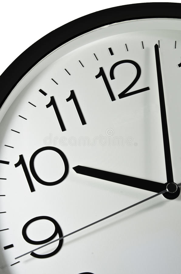 Clock. S for more time, hours, minutes and seconds royalty free stock photos
