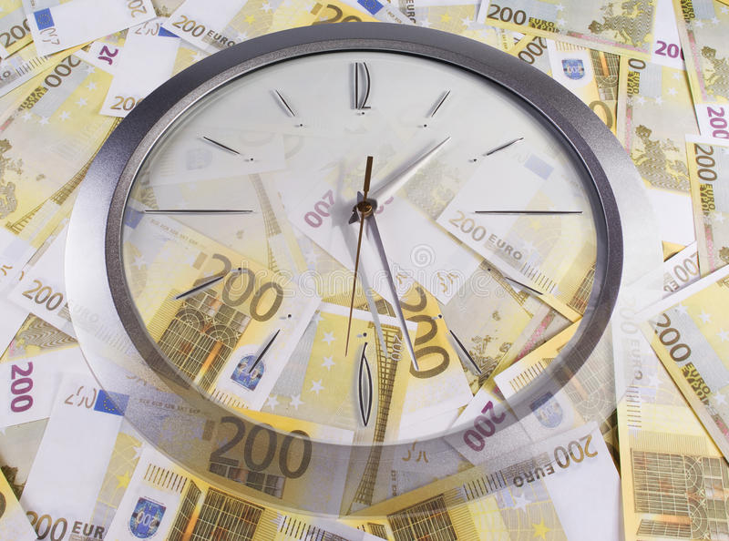 Download A Clock And 200 Euro Banknotes Stock Image - Image: 16567199