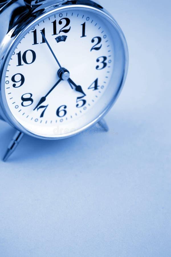 Clock. Old alarm clock, copy space stock image