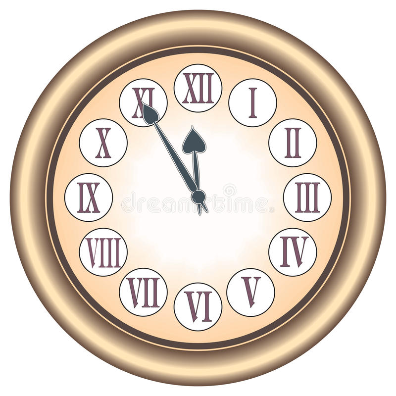 Download Clock stock vector. Image of object, household, number - 20853006