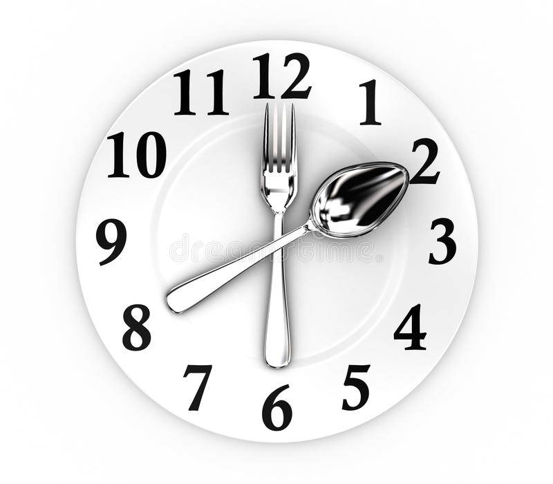 The clock stock illustration