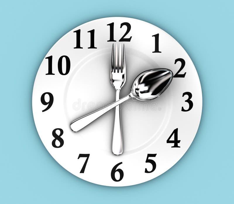 The clock vector illustration