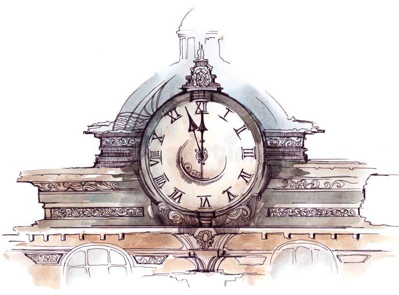 Clock stock illustration