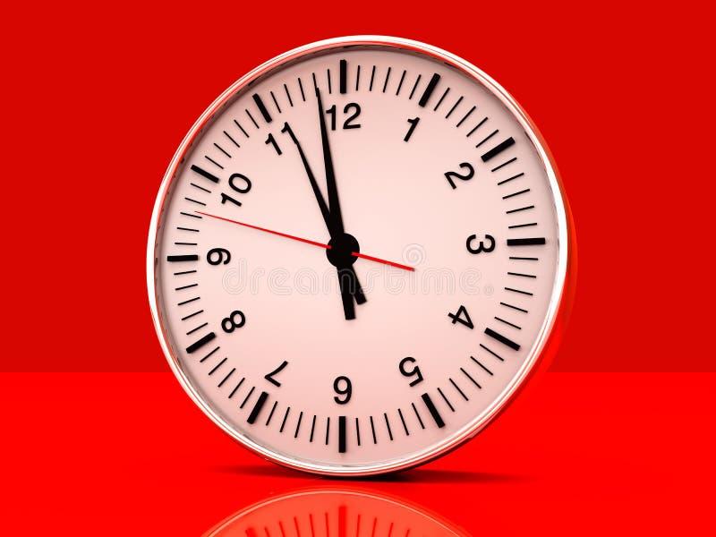 Clock. A Clock. 3D rendered Illustration stock illustration