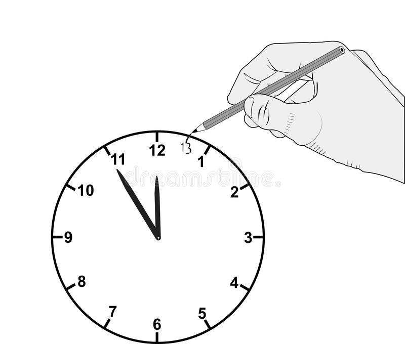Download Clock stock vector. Image of minutes, tick, watch, timer - 22680897