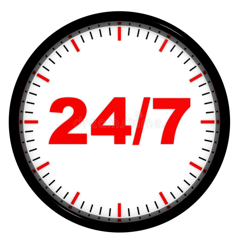 Download Clock. 24/7 Avaliable. Royalty Free Stock Photo - Image: 23474595