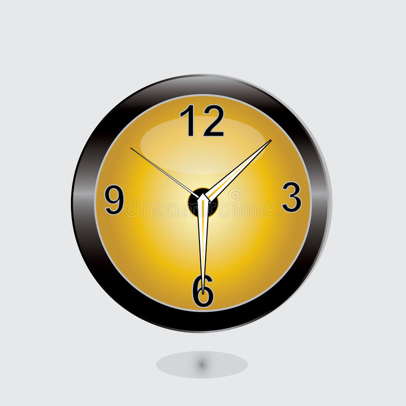 Download Clock stock vector. Illustration of time, shape, eps10 - 25141778