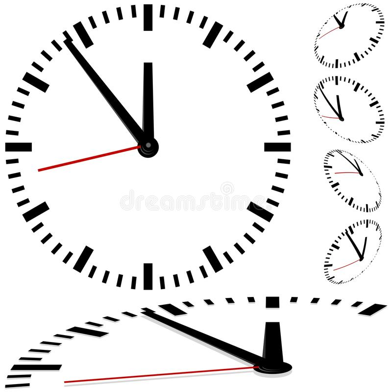 Clock. Colored illustration of a , Vector