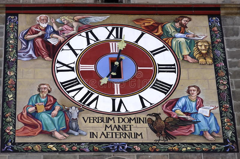 Download Clock stock image. Image of tourism, painting, religious - 27120517