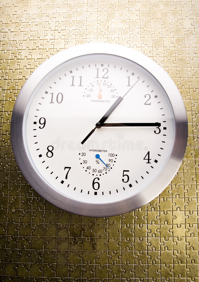 Clock. Alarm clock is an instrument that shows you what time it is royalty free stock images