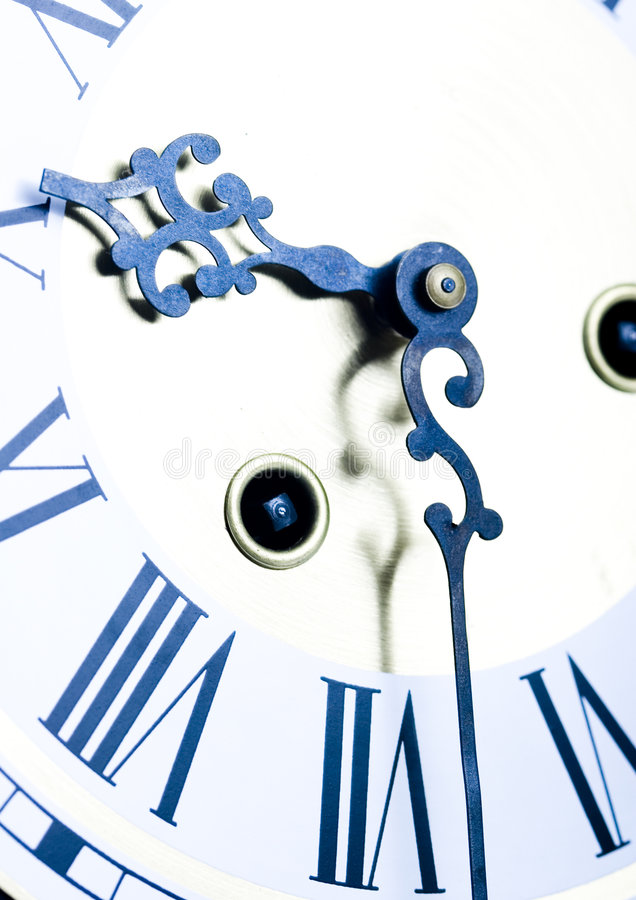 Clock. Alarm clock is an instrument that shows you what time it is royalty free stock photography