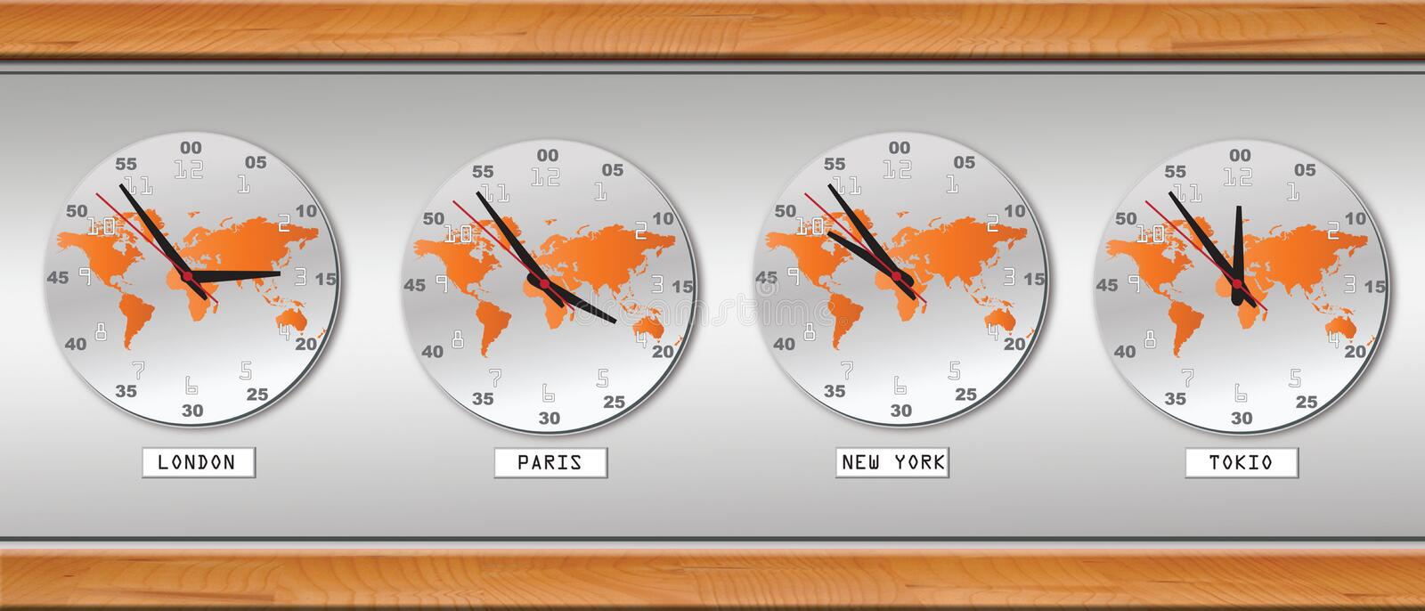 Clock. Easy to resize or change color royalty free illustration