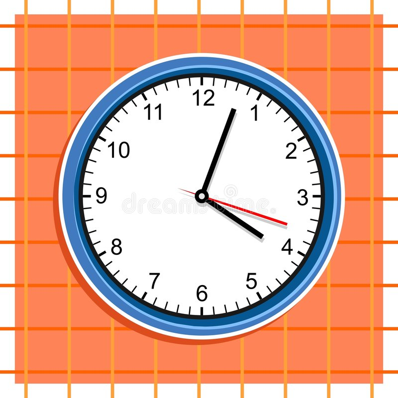Download Clock stock vector. Illustration of clipart, tock, time - 48788