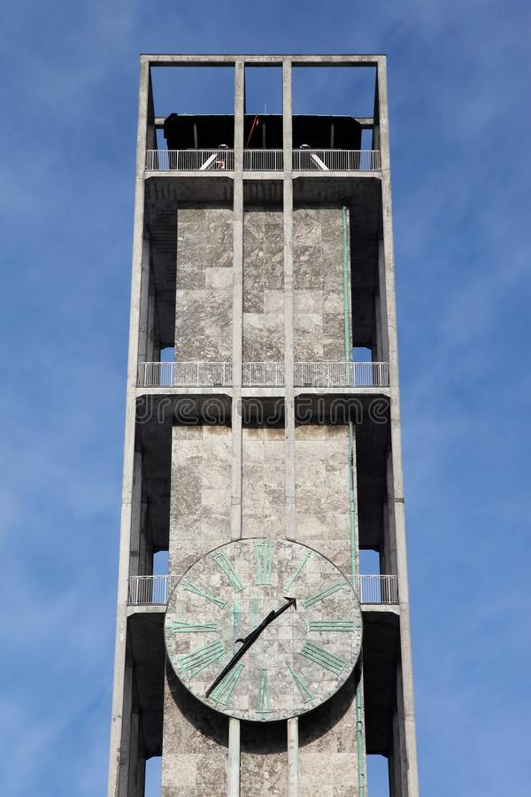 Clock of Aarhus city hall. In Denmark royalty free stock photos