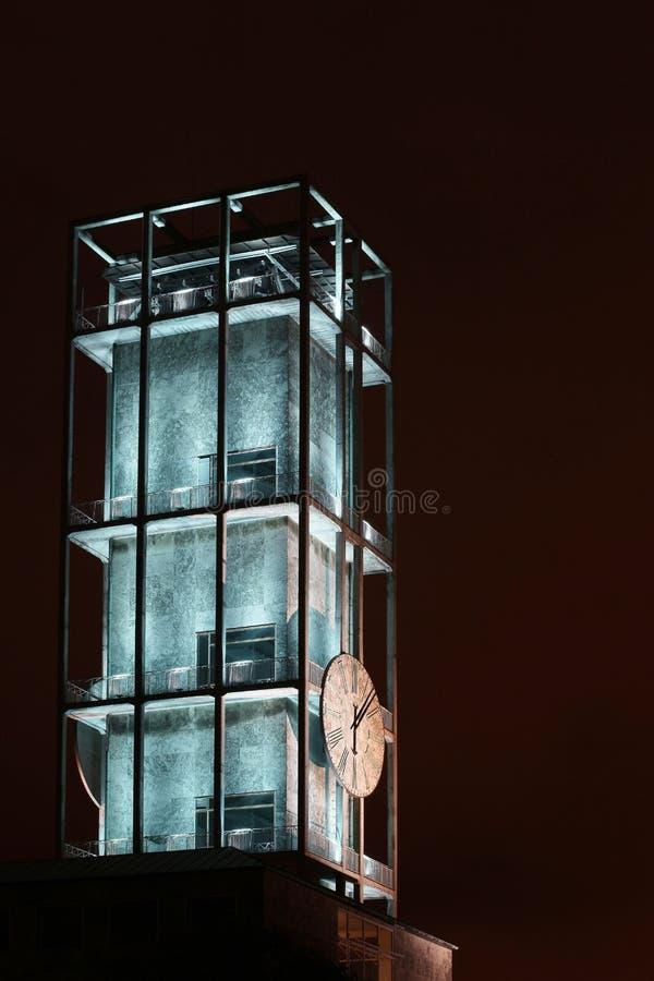 Clock of Aarhus town-hall. In Denmark stock images