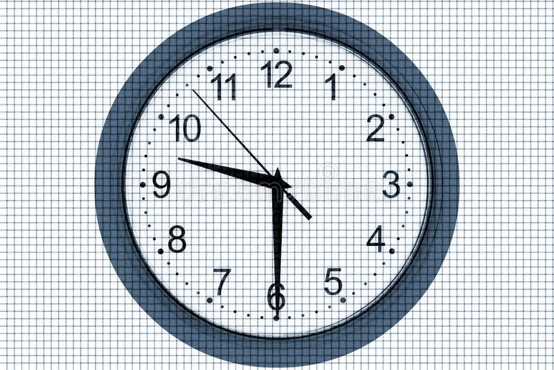 Clock on a abstract background royalty free stock photos