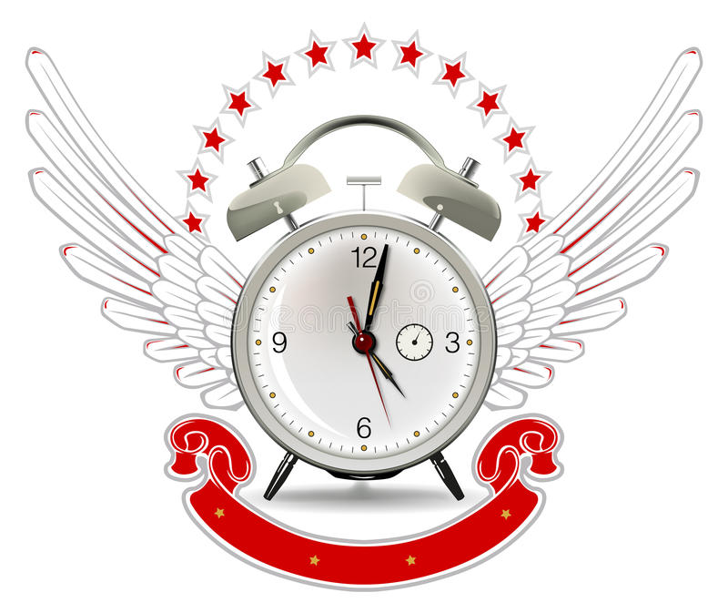Download Clock Alarm Emblem Stock Image - Image: 19122831