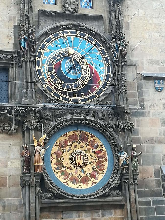 Clock. Astronomy, prag, architectur, watch stock photography