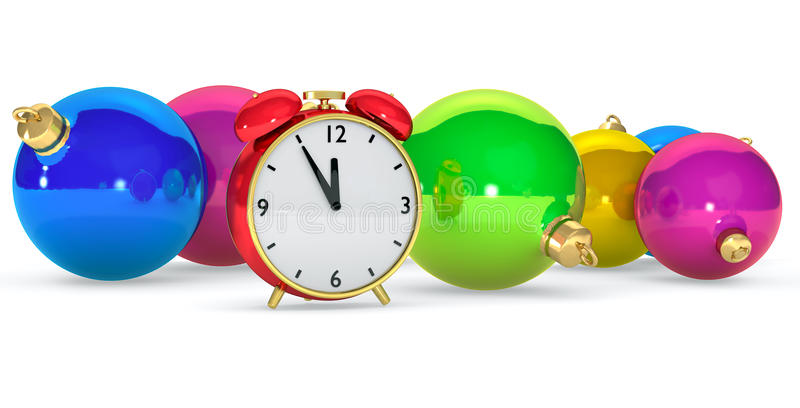 Download Clock with balls stock illustration. Image of decoration - 26602632