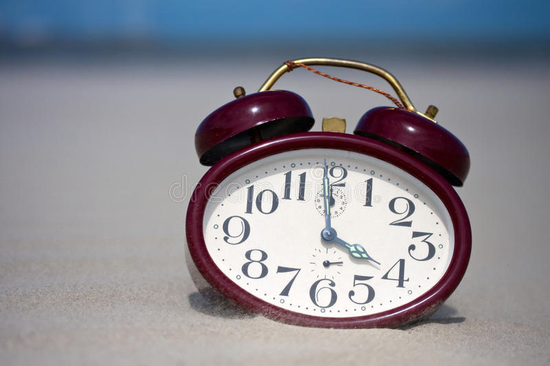 Download Clock on a beach stock image. Image of sandy, afternoon - 25664387