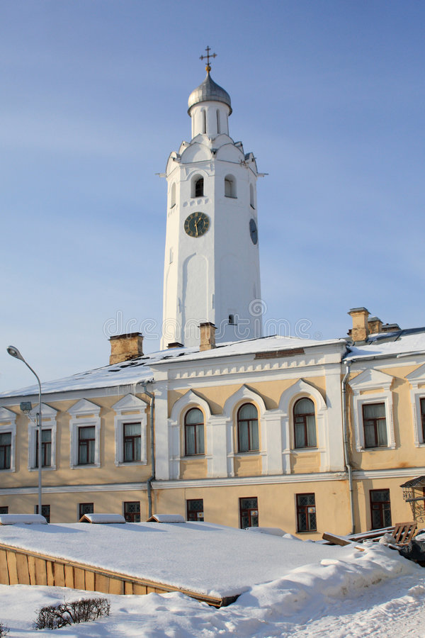 Download Clock An Bell Tower Of Kremlin (The Detinets) Stock Photo - Image: 8321342