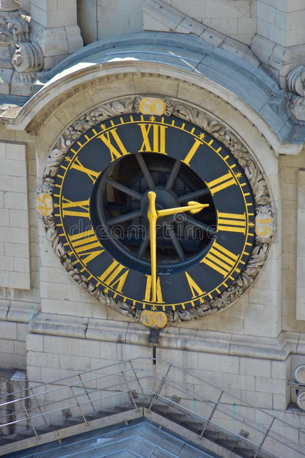 Clock on Bell Tower stock photography