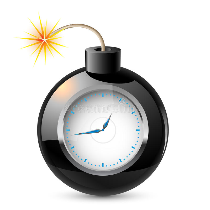 Clock In A Bomb Royalty Free Stock Images