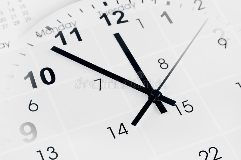 Download Clock and calendar stock photo. Image of annual, clock - 28632378