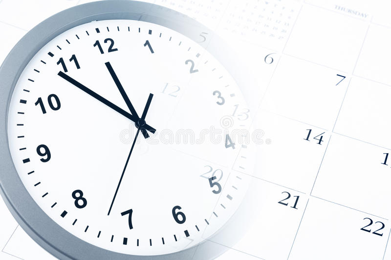 Download Clock and calendar stock image. Image of business, minutes - 28650805