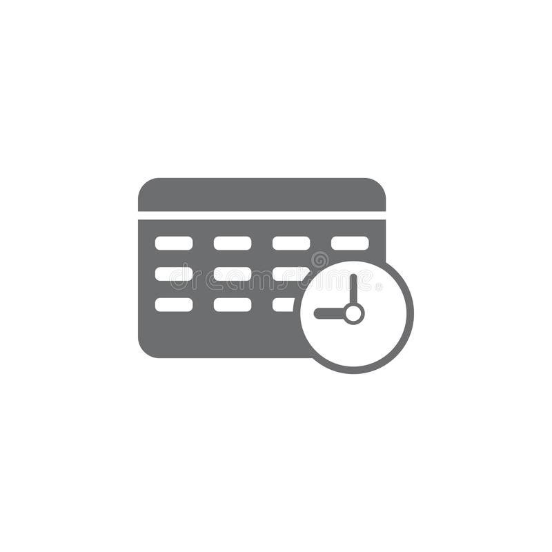 Clock calendar icon. Simple element illustration. Business icons universal for web and mobile stock illustration