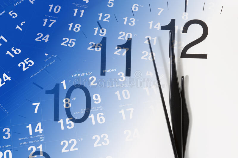 Download Clock and Calendar Pages stock photo. Image of months - 12059232