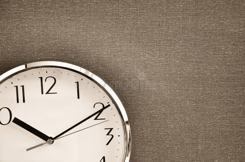 Clock on canvas royalty free stock images