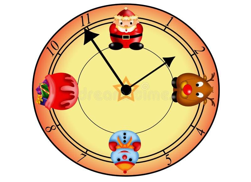 Download Clock Christmas stock illustration. Image of color, illustration - 28065914