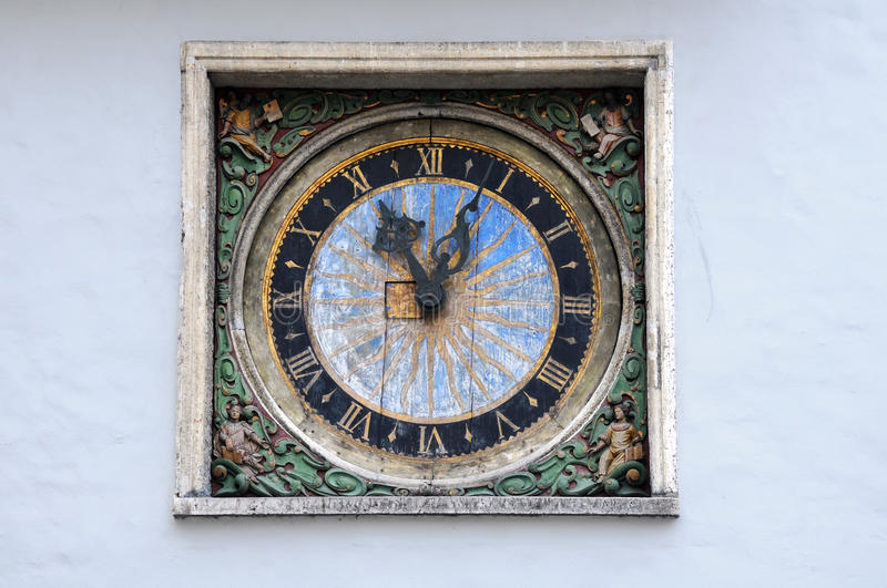 Clock on the Church of the Holy Ghost royalty free stock photo
