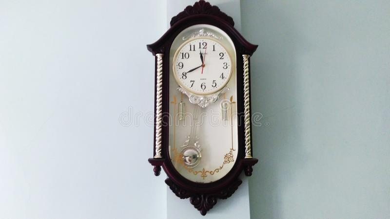 Clock with a classic style model. stock images