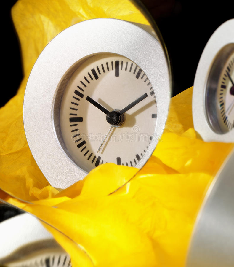 Download Clock Clean And Simple Wrapt In Paper Stock Image - Image: 25433841