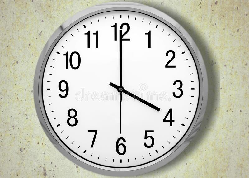 Clock. Face time o` multiple image midday white royalty free stock photography