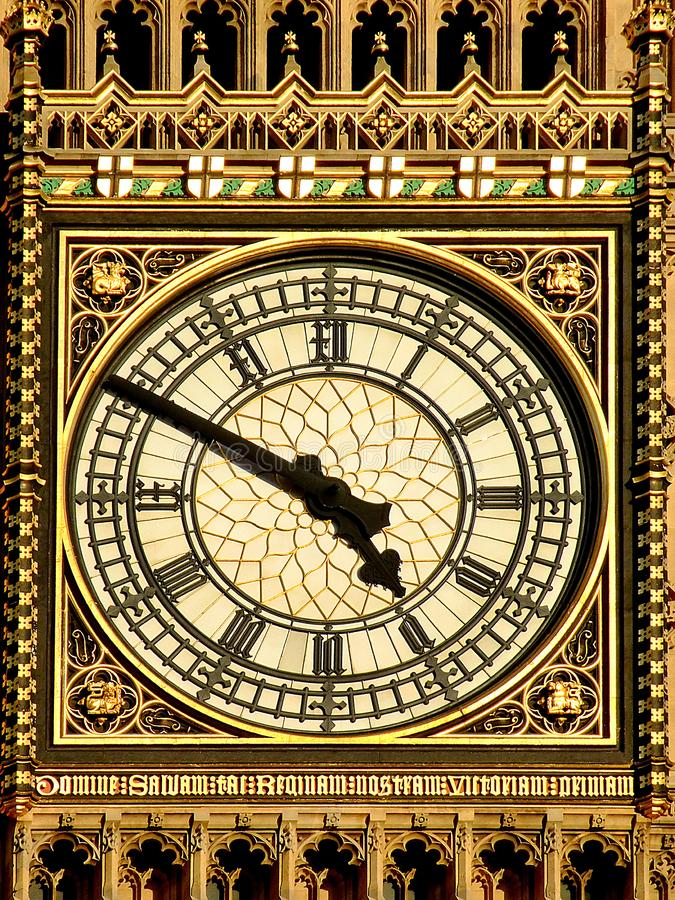 Clock closeup royalty free stock photo