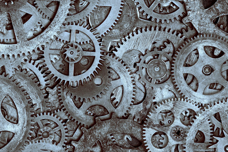 Clock Cogs Background stock image
