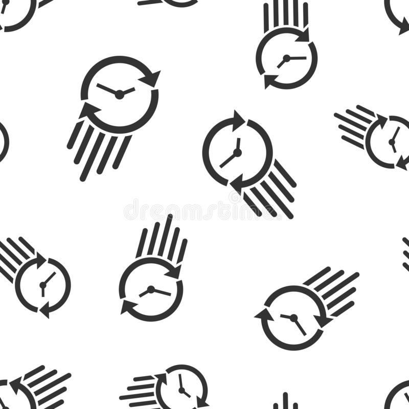 Clock countdown icon seamless pattern background. Time chronometer vector illustration. Watch clock symbol pattern.  vector illustration