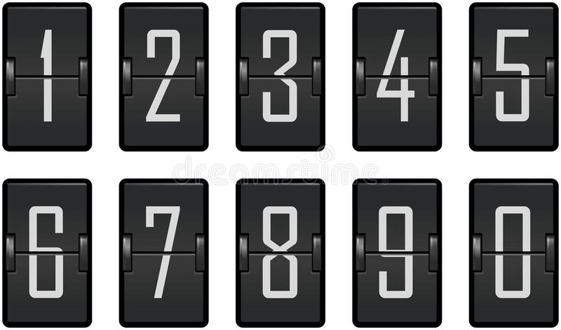 Clock counter toggling digits dark royalty free illustration