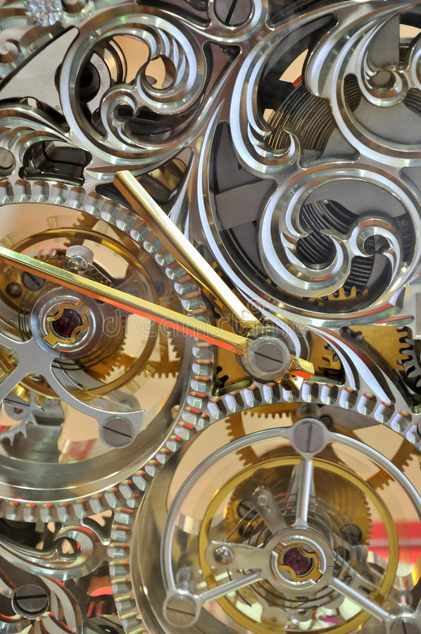 clock den interna mekanismfunktionen arkivfoton