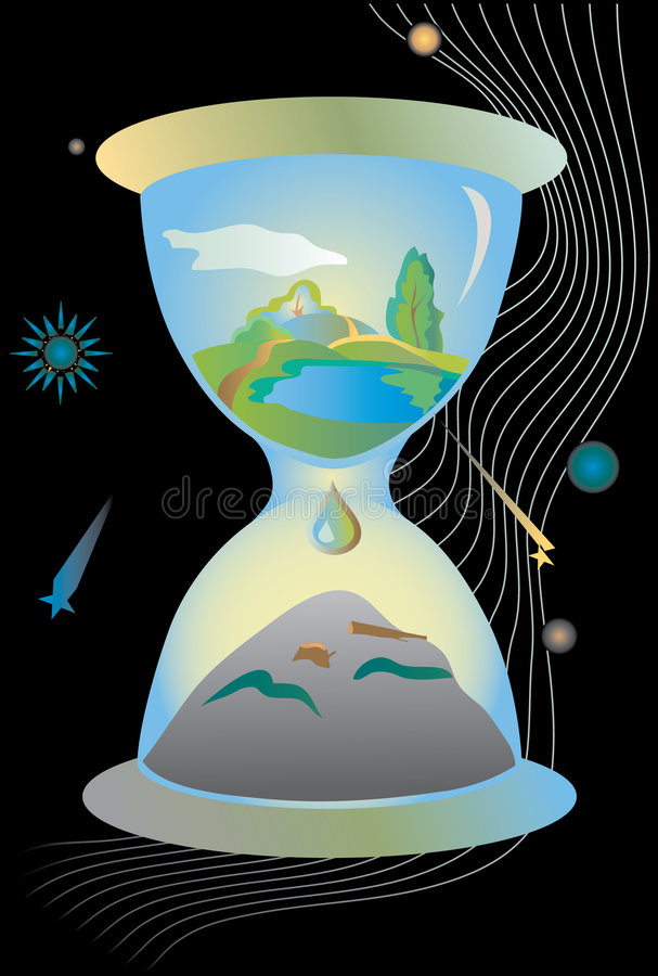 Download The Clock Of Destruction stock illustration. Illustration of conservation - 2165752