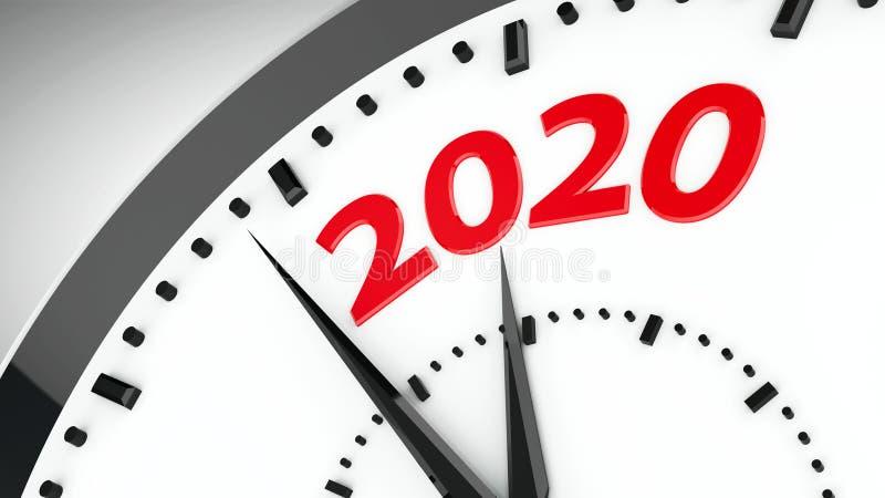 Clock dial 2020 #3 vector illustration