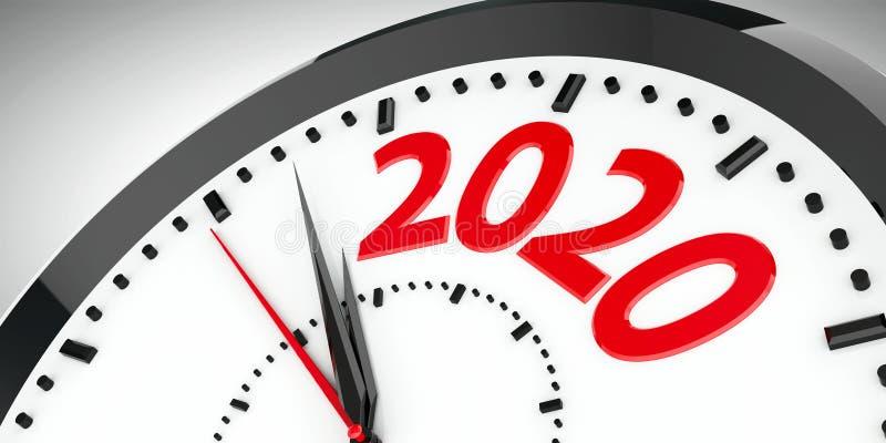 Clock dial 2020 #4 vector illustration